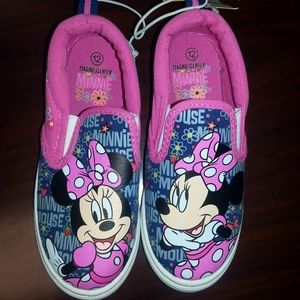 Disney Toddler Girls' Minnie Mouse Canvas Sneakers